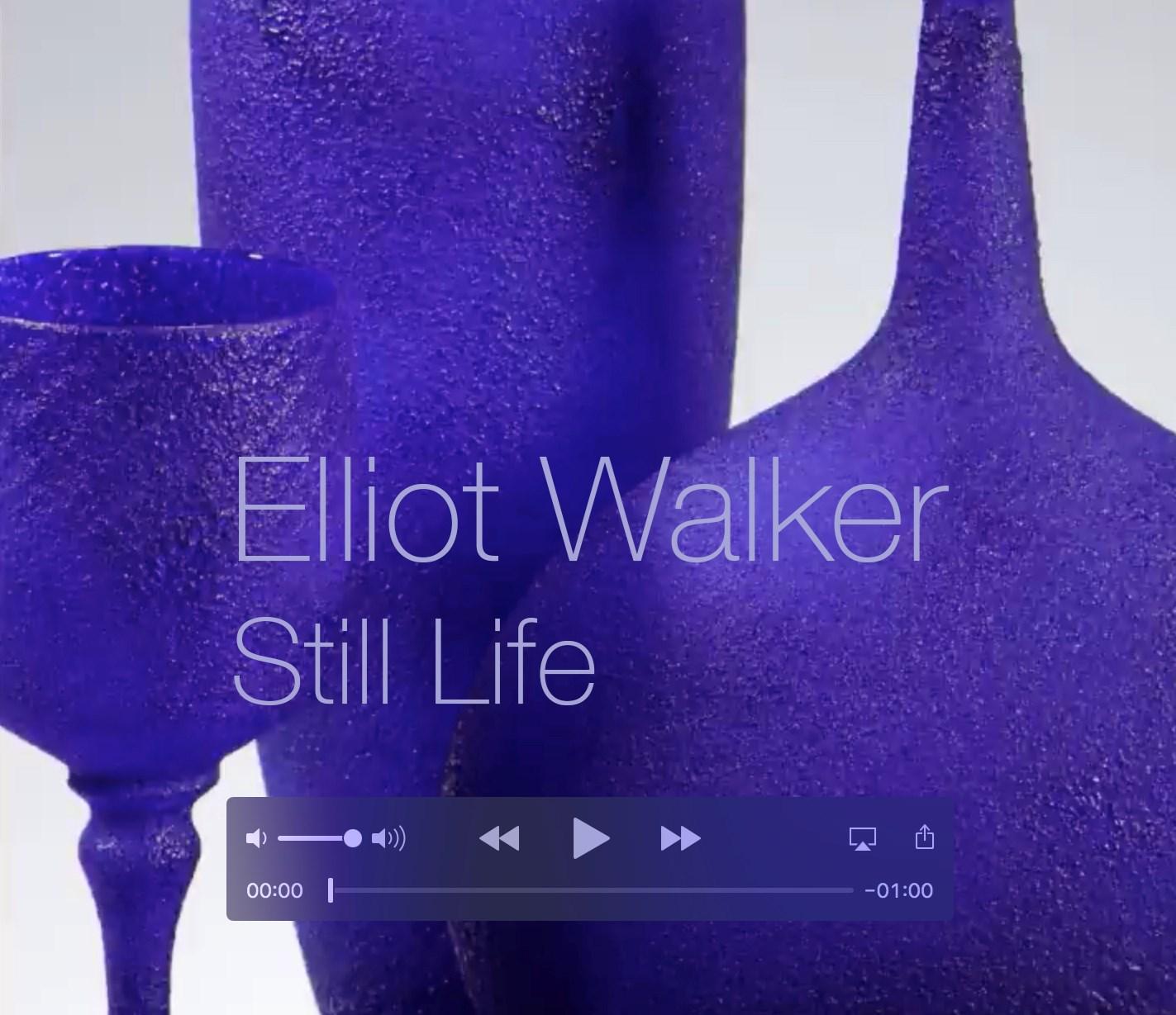 still life art glass sculpture by elliot walker hand blown sculpted