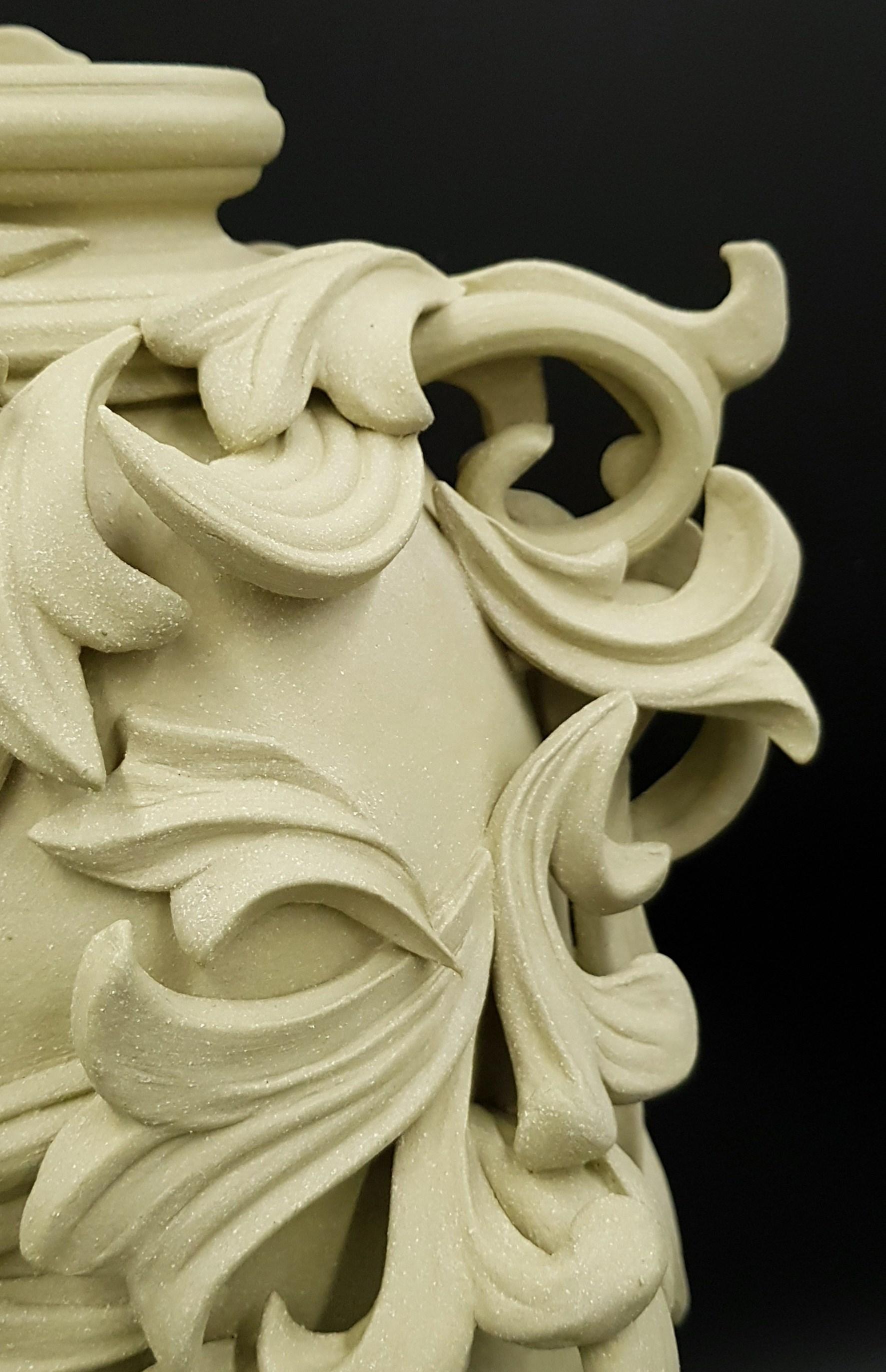 clay vase sculpture detail jo taylor