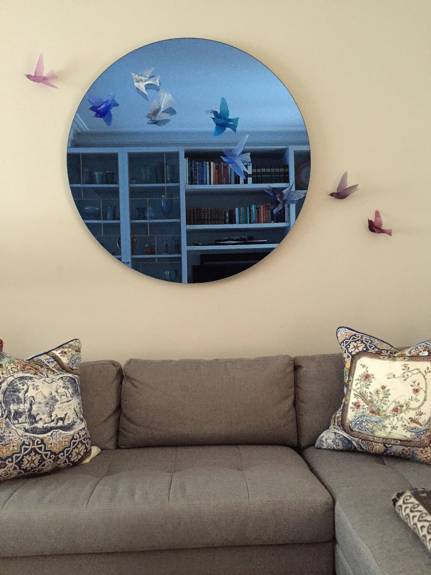 living room decorative mirror art with lukeke design birds