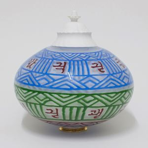 korean art glass teapot