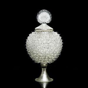 Round Argentum Jar with Thistle Top
