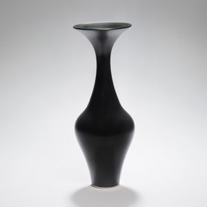 tall thin black vase sculpture porcelain ceramic