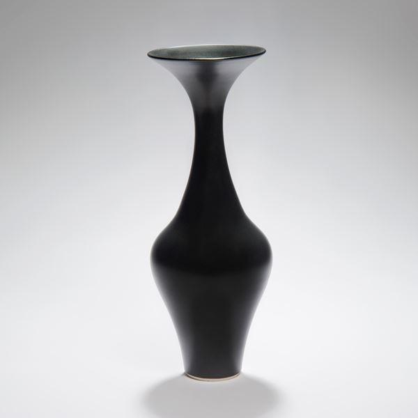 tall thin black vase sculpture porcelain ceramic
