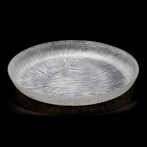 clear art-glass centrepiece dish