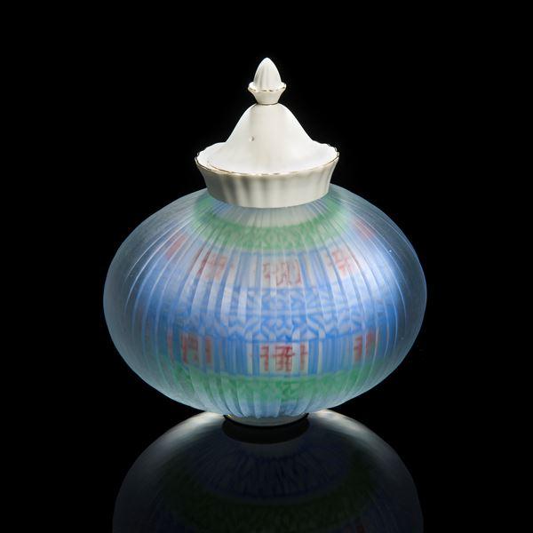 korean glass and porcelain teapot art sculpture