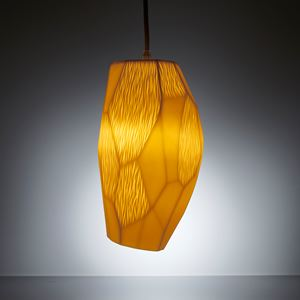 modern art sculpture amber coloured porcelain lightshade