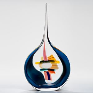 Sails Vase in Blue