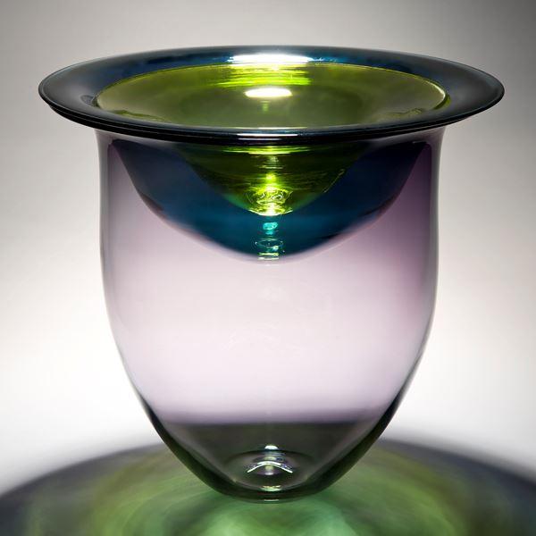 minimalist glass vessel sculpture with open top