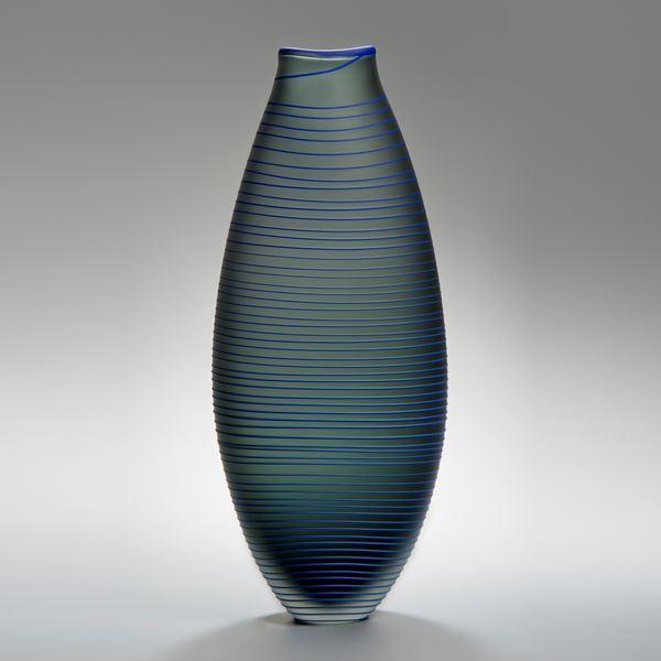 Tonal Frequency Vase in Grey