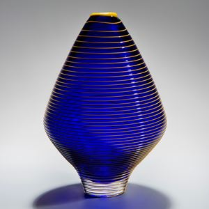 High Frequency Vase in Blue