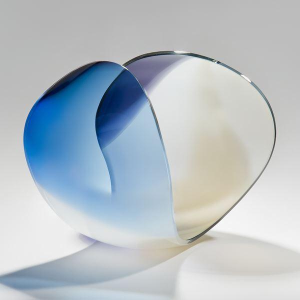 minimalist elegant handblown and cut glass sculpture scandinavian
