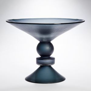 centrepiece glass sculpture with wide open top