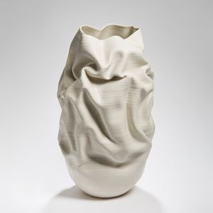 modern clay and stoneware vase art ornament