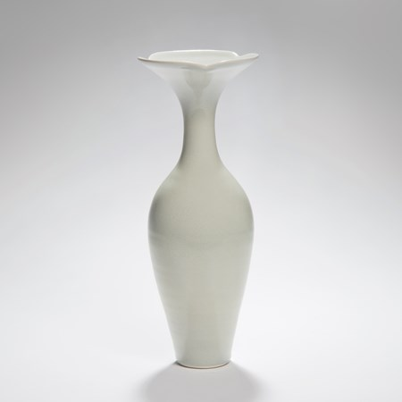 tall thin flower vase sculpture porcelain ceramic chinese style