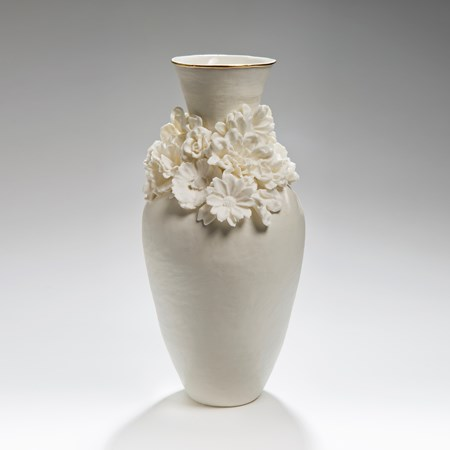 Forget Me Not tall vase