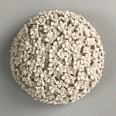 porcelain ceramic sculpture of flowers