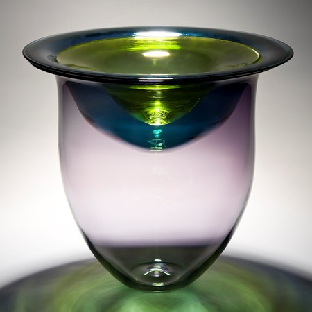 minimalist glass vessel sculpture with open top