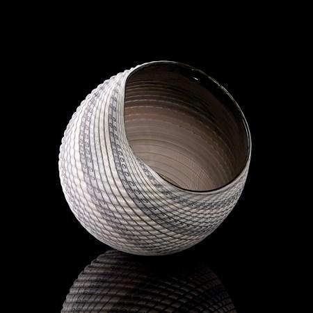 beautiful geometric art-glass sculpture woven mandalas